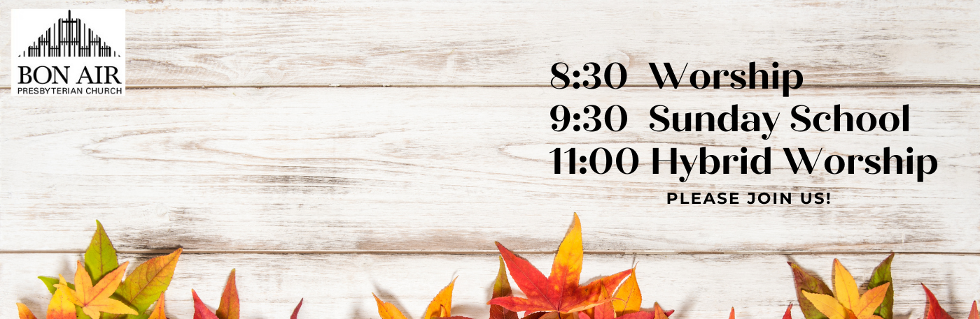 Fall Sunday Schedule
